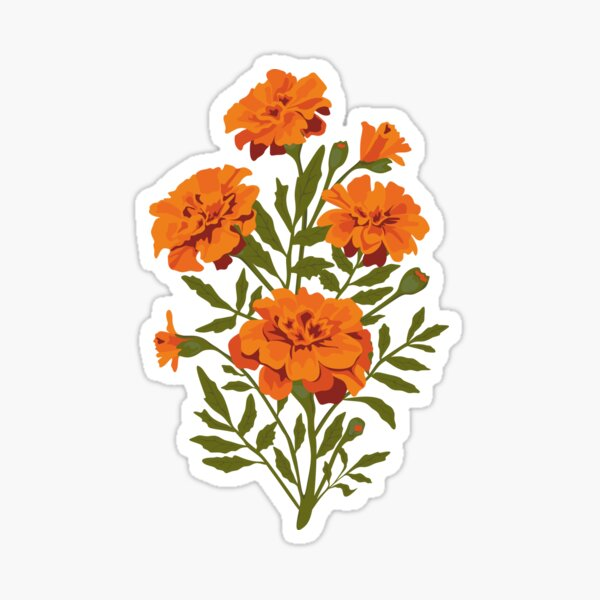 Marigold Flowers Sticker