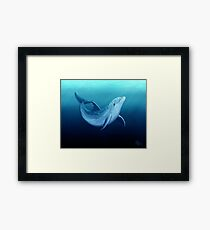 """""""Riversoul Blue"""" ~ dolphin art by Amber Marine Framed Print"""