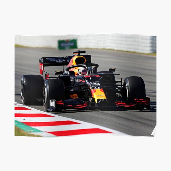 Max Verstappen in the 2020 F1 car Poster
