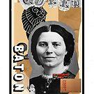 Dada Tarot- Queen of Batons by Peter Simpson