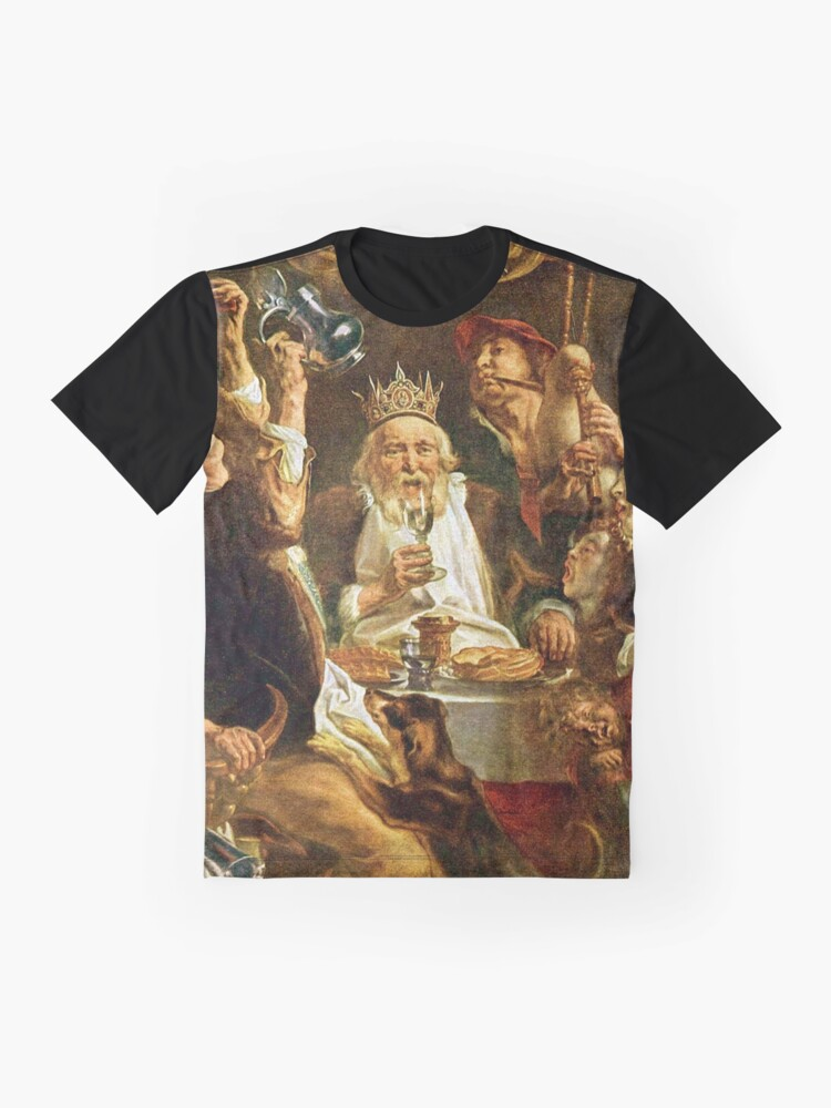 Alternate view of Happy Purim! Esther, King Ahasuerus, Vizier Haman, Mordecai, Torah, drinking feast, Purim, Haman, Esther, Happy Purim, פּוּרִים,  Graphic T-Shirt