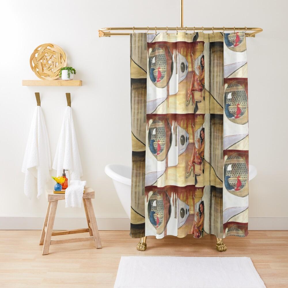 Laundry a No-No Shower Curtain
