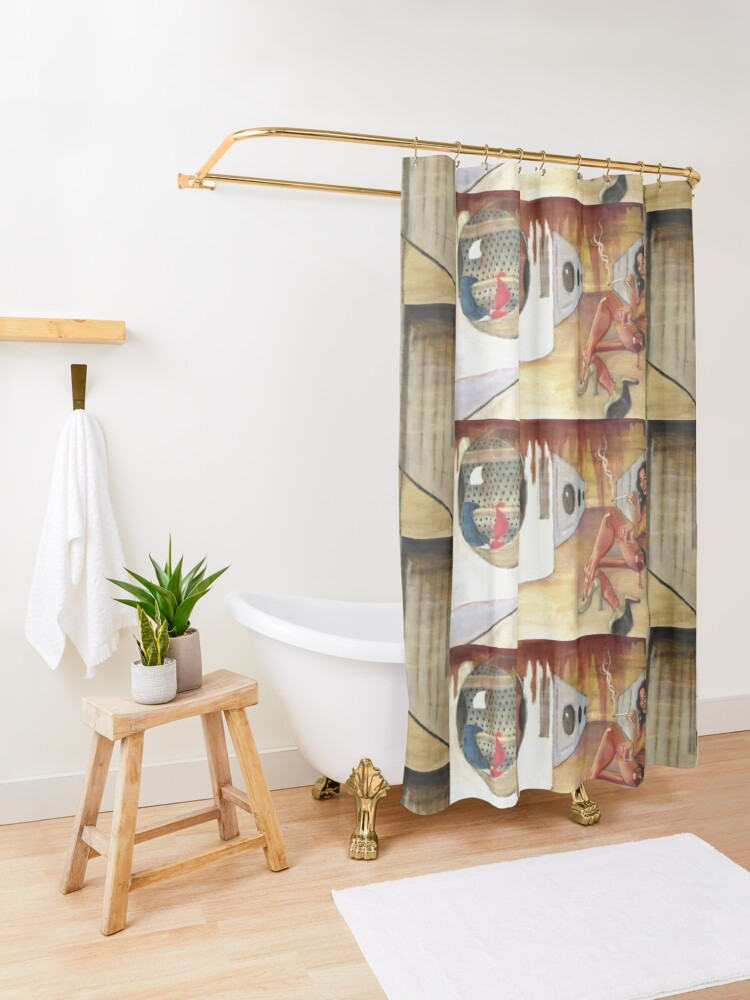 Alternate view of Laundry a No-No Shower Curtain