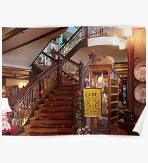 stairway at the tea house in Cripple Creek Poster