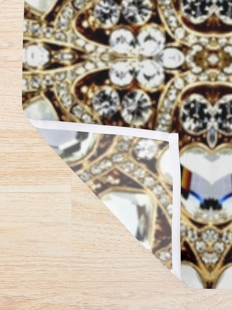 Alternate view of jewelry gemstone silver crystal champagne gold rhinestone Shower Curtain