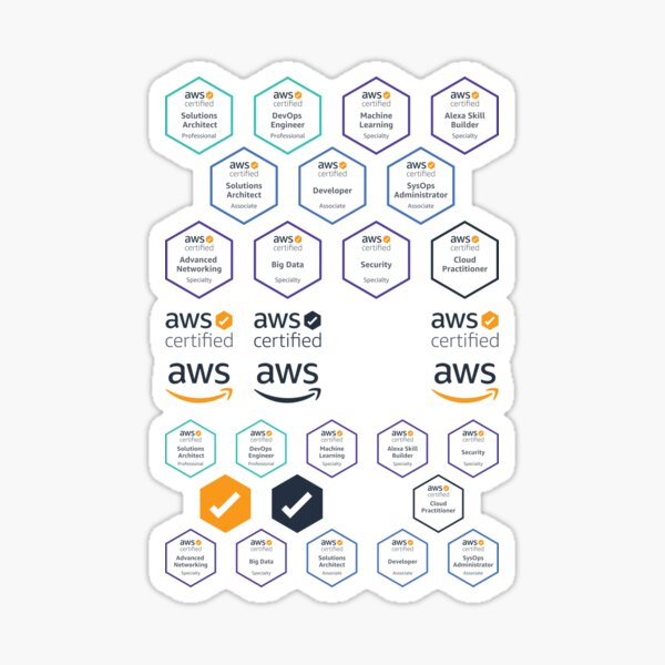 AWS Certified Badges - Large Sticker