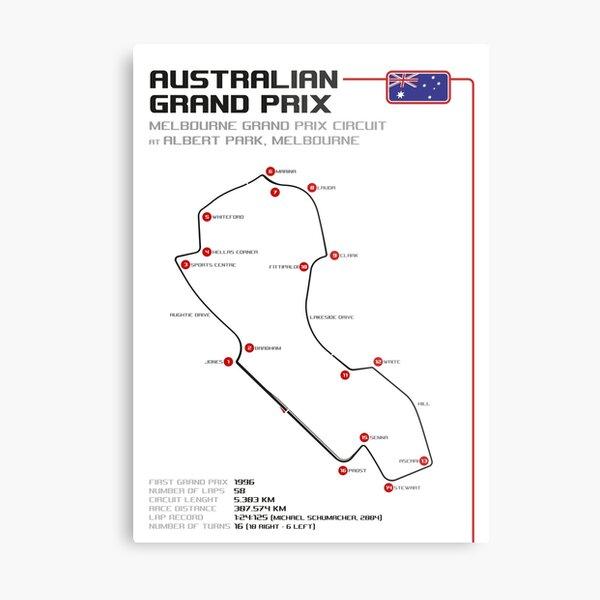 Australian Grand Prix Metal Print