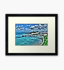Tenby Harbour Painterly Framed Print