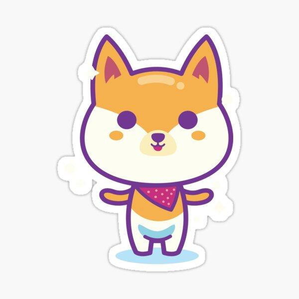 Cute Shiba Inu,Puppy,Dog,Cartoon,Graphic,Art,Design Sticker
