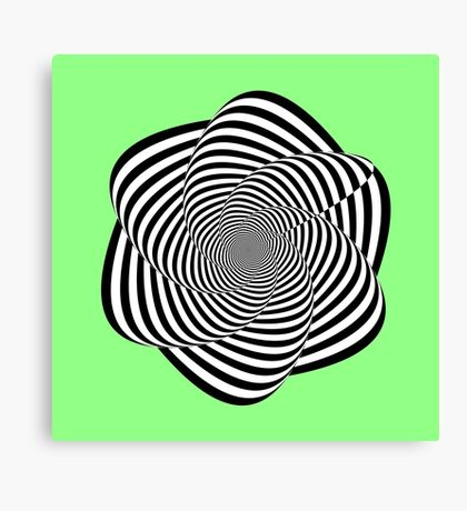 Spirally contrasty thingy thing Canvas Print
