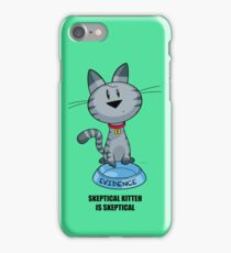 Skeptical Kitteh is Skeptical iPhone Case/Skin