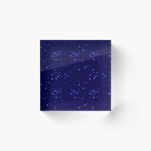 Spaced Out Acrylic Block
