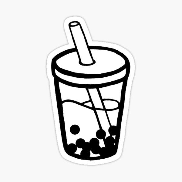 Bubble Tea Doodle Sticker