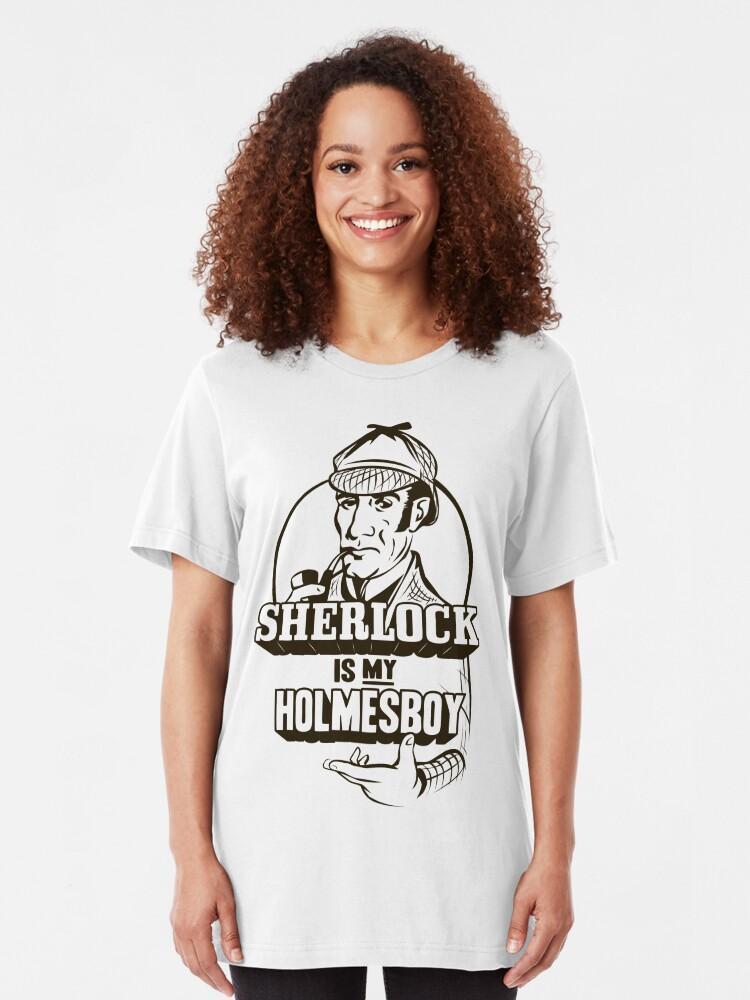 Alternate view of Sherlock is my Holmesboy Slim Fit T-Shirt