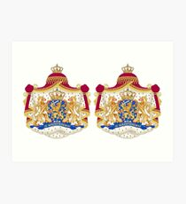 Colorful coat of arms - wapenschild Art Print