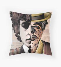 "Bob Dylan ""Man v. Myth"" Throw Pillow"