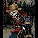 Skeleton Mountie iPhone case by BrokenSk8boards