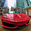 Ferrari Rain Drops by Hilm3r -