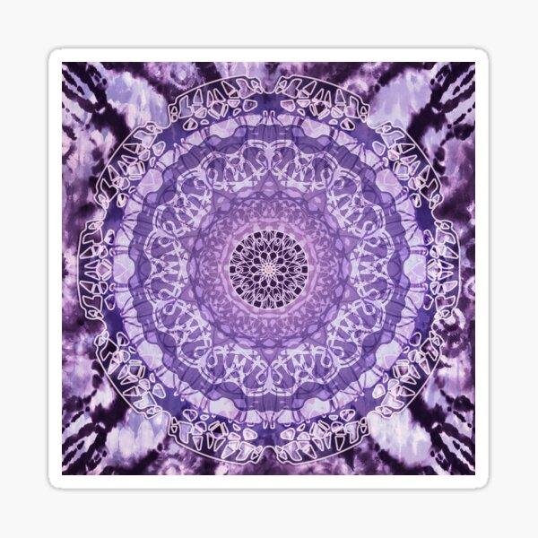 Tie-Dye Mandala Jain Purple Sticker