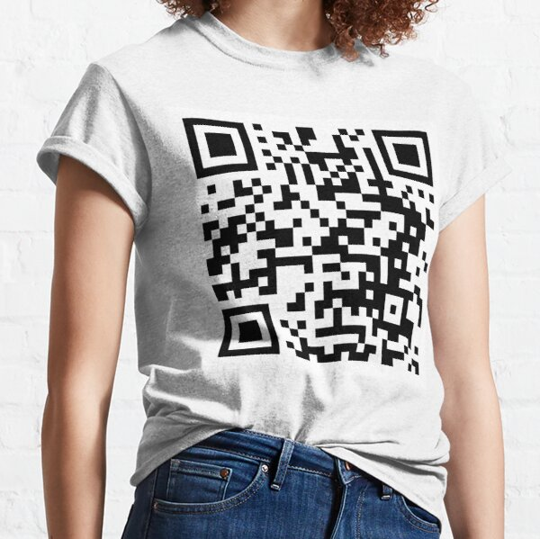 Rick Roll QR code upright Classic T-Shirt