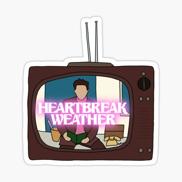 heartbreak weather TV Sticker