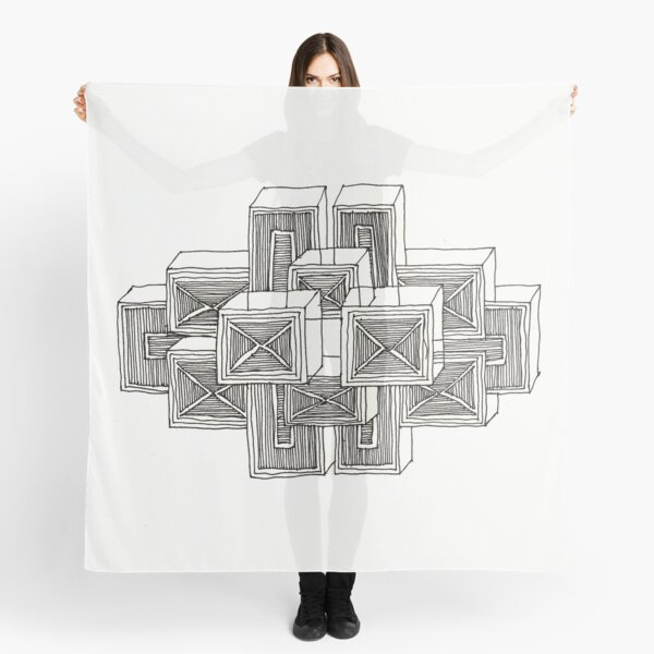 Construct Art Line Drawing 121 Scarf