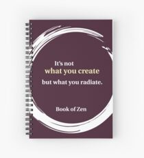 Life Quote About Creativity Spiral Notebook