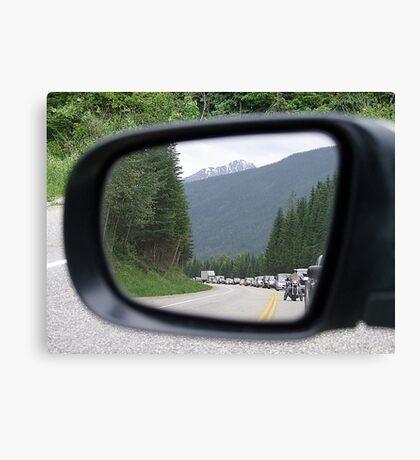Side Mirror View Canvas Print
