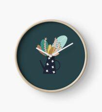 Cafetière botanique Horloge