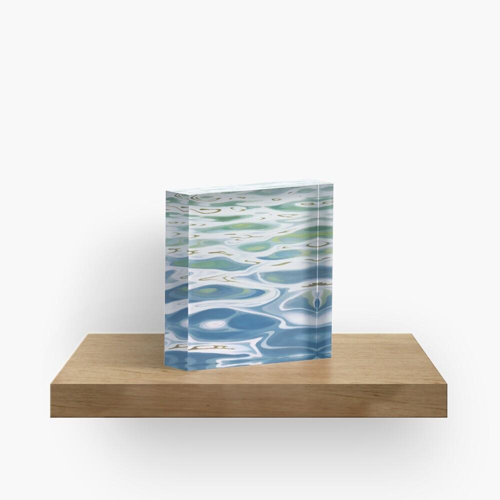 Summer Lake painting Acrylic Block