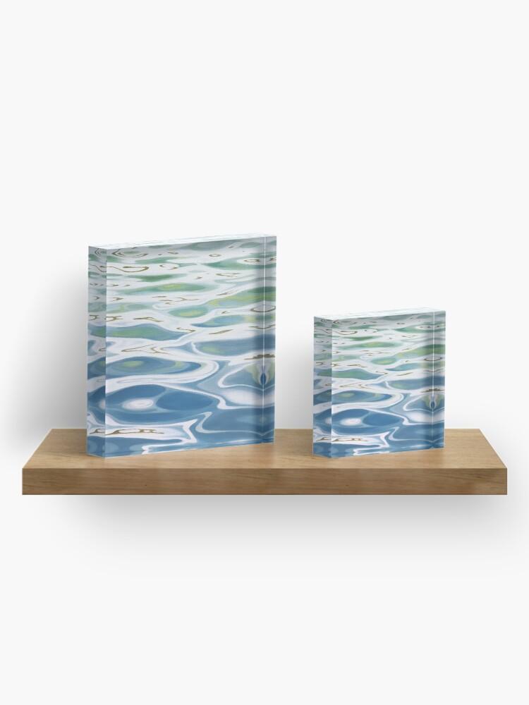 Alternate view of Summer Lake painting Acrylic Block