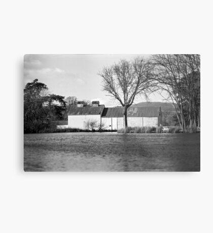 Pond & Oast House, Tasmania Metal Print