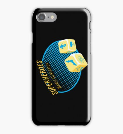 Superheroes name-generator iPhone Case/Skin
