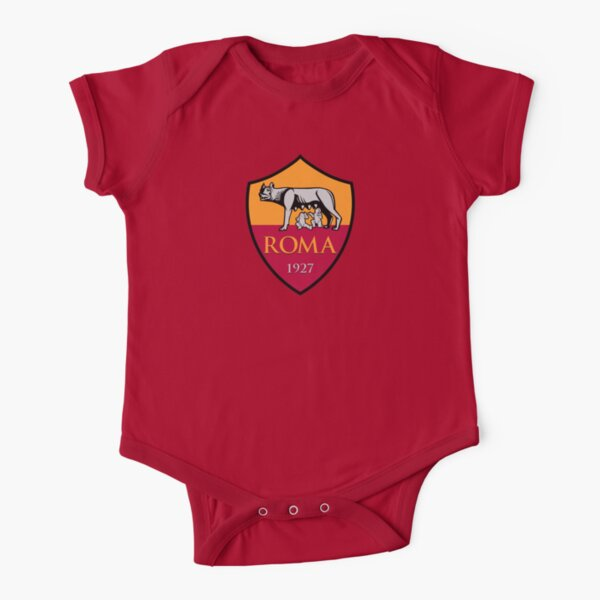 AS Roma Short Sleeve Baby One-Piece