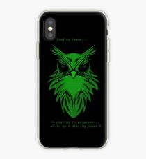 staring owl interface iPhone Case