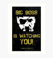 The Phantom Pain Big Boss is Watching You Art Print