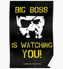 The Phantom Pain Big Boss is Watching You Poster