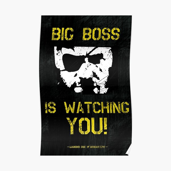 The Phantom Pain Big Boss te está mirando Póster