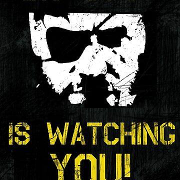 The Phantom Pain Big Boss is Watching You by paulfierce