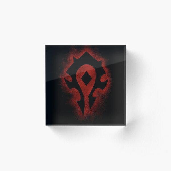 Red horde logo Acrylic Block