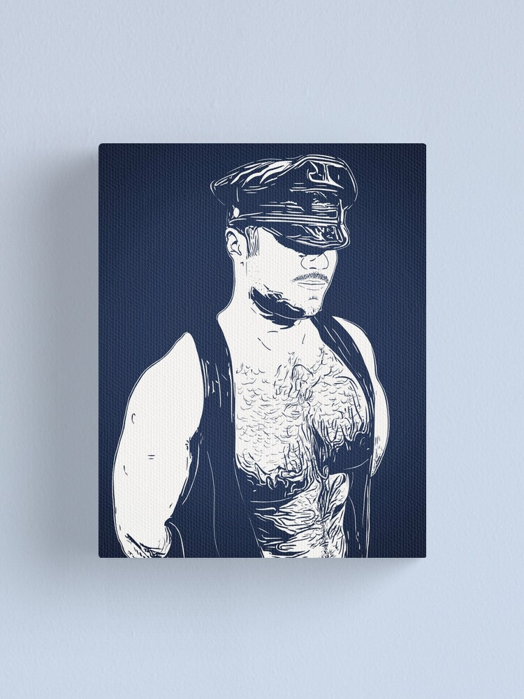 Alternate view of Leather (Color Block) Canvas Print