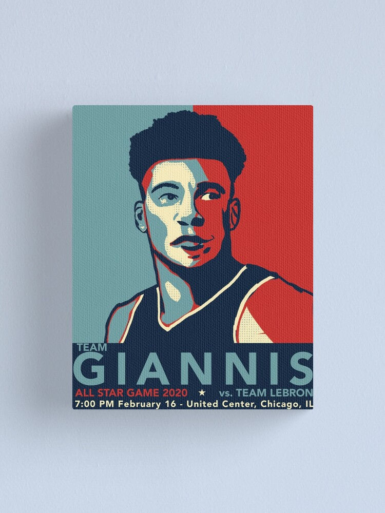 Alternate view of Giannis Canvas Print