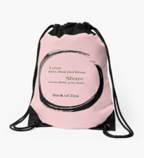 Life Quote About Love Drawstring Bag