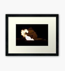 Flaming Dragon Framed Print