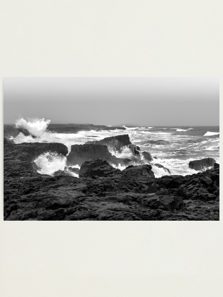 Alternate view of The force of the sea at Reykjanes peninsula  Photographic Print