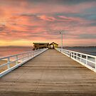 Queenscliff Pier by Lawrence Norton
