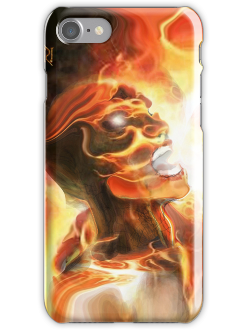 CURSED OF GOD ! iPHONE COVER  by Ray Jackson