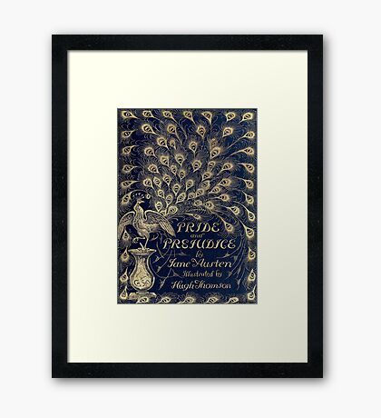 Pride and Prejudice Peacock Cover Framed Print