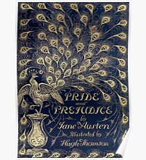Pride and Prejudice Peacock Cover Poster