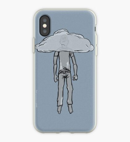 hanging from cloud iPhone Case
